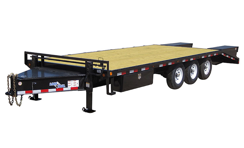 "2019 Load Trail 102"" X 28' Triple Heavy Duty Pintle Hook Equipment Trailer"