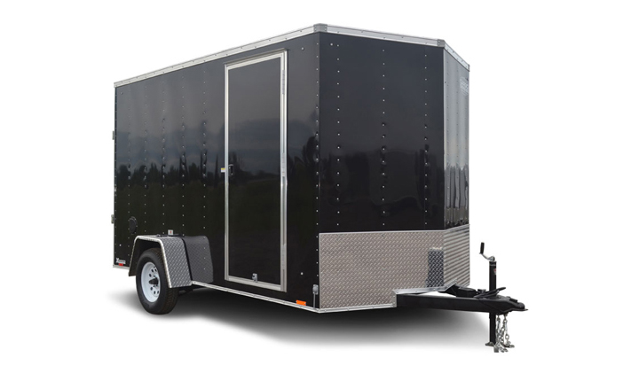 2017 Cargo Express Xlw 7' Wide Cargo Flat Top Cargo / Enclosed Trailer