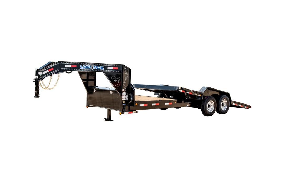 "2019 Load Trail 83"" X 20' Tilt-n-go Gooseneck Tandem Axle Equipment Trailer"
