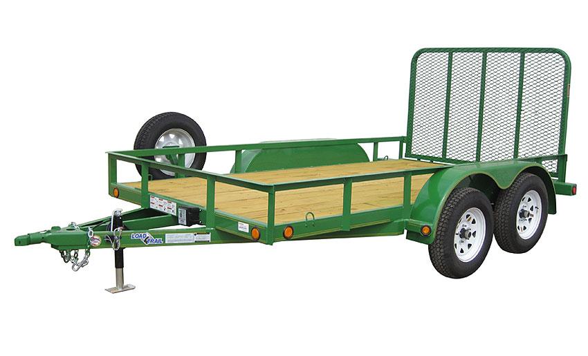 """2016 Load Trail 77"""" X 18' Tandem Axle Utility 2-3500 lb w/1 Brake"""