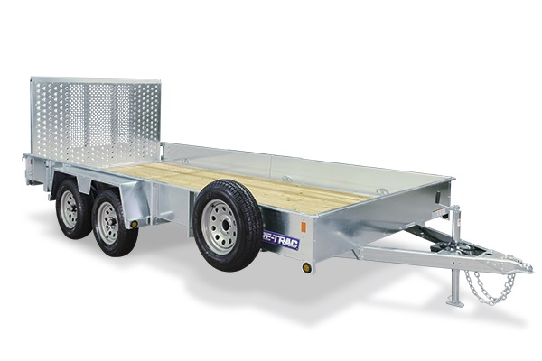 2018 Sure-Trac 5 x 10 Galvanized High Side, 3k Idler