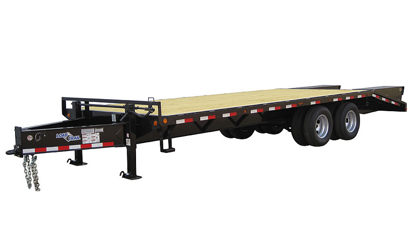 "2016 Load Trail 102"" x 25' Heavy Duty Pintle Hook   2-10,000 lb Axles"