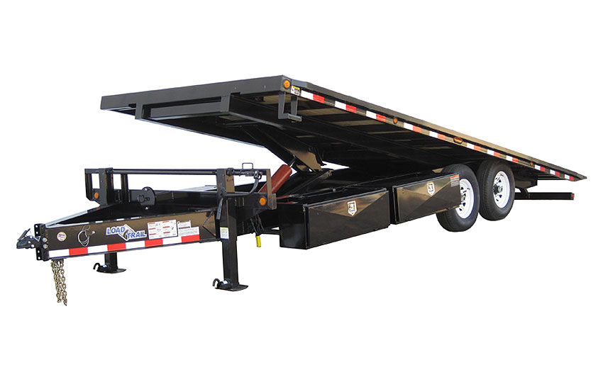 "2019 Load Trail 102"" X 24' Tandem Pintle Hook Equipment Tilt Deck Equipment Trailer"