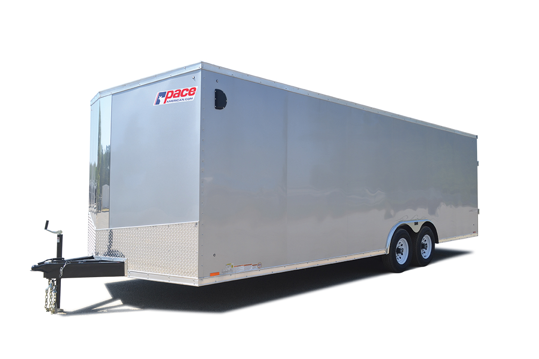 2018 Pace American Cargo Sport Flat Top Auto 10k Car / Racing Trailer