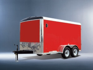 LOOK 2017 7' x 14'  white ELEMENT ROUND TOP ENCLOSED TRAILER
