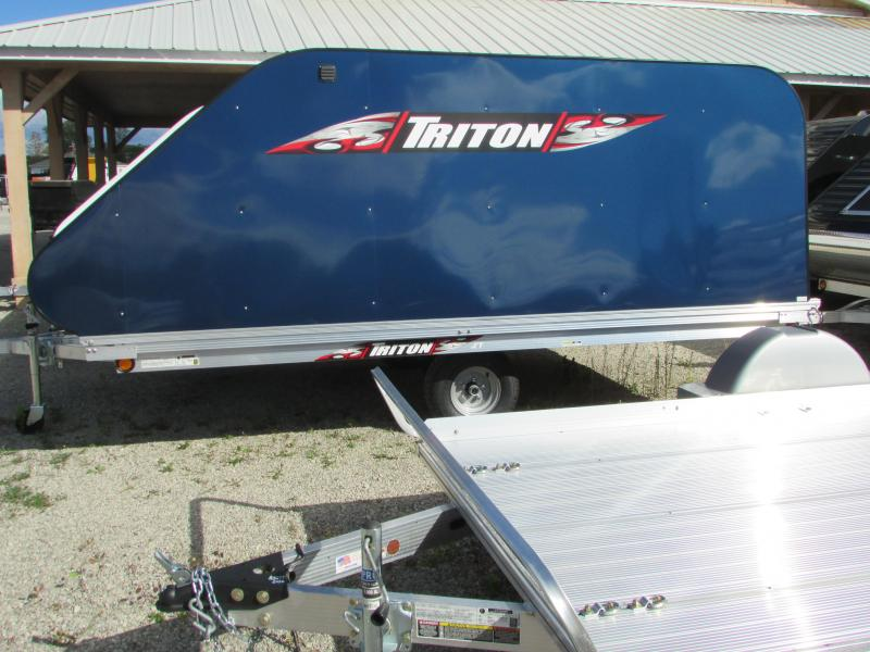 2018 Triton Trailers XT 12 TILT STYLE 4 X4 DOOR Snowmobile Trailer