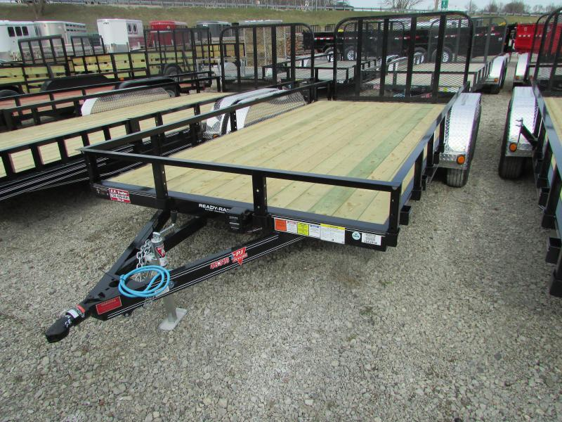 2018 PJ Trailers 18 ft Landscape Commercial Grade Flatbed Trailer