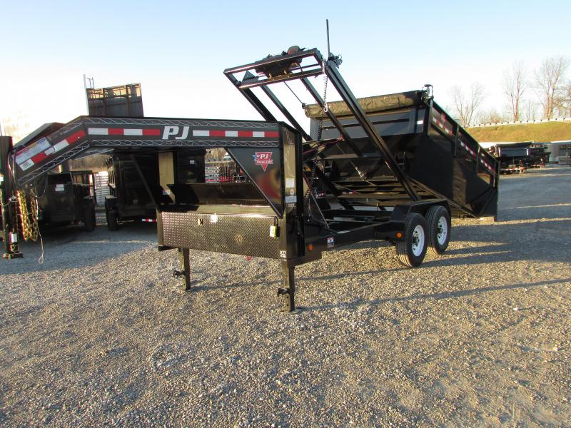 2017 PJ Trailers 14 Roll Off Gooseneck Dump Trailer