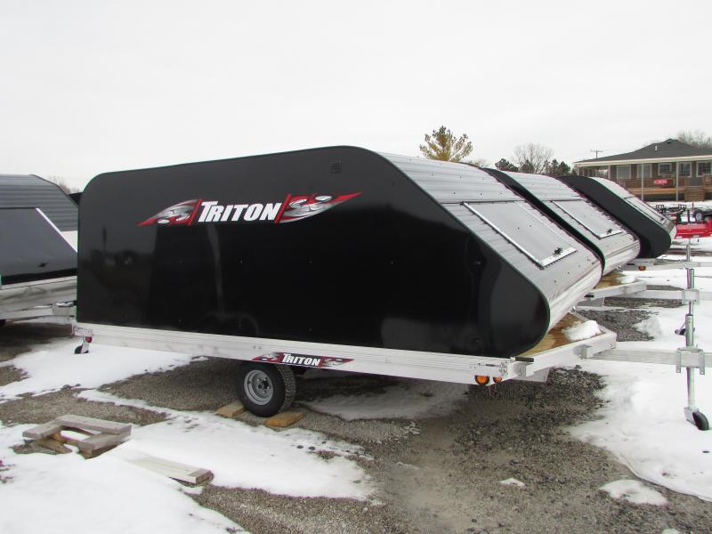 2018 Triton Trailers XT 12 ON/OFF Style Snowmobile Trailer W/Cover