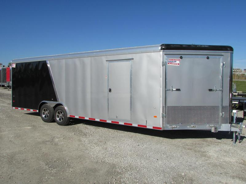 2018 American Hauler 28' Enclosed Snowmobile Carhauler Trailer