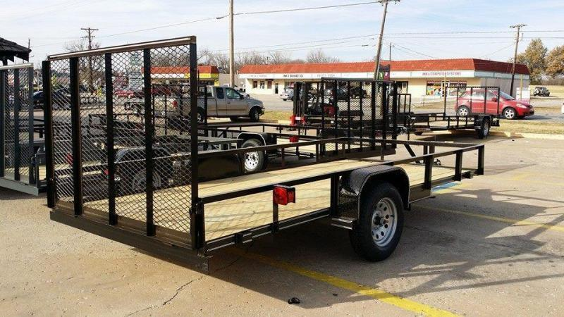 2017 Tiger 77x14 utility trailer w/ rear rampgate