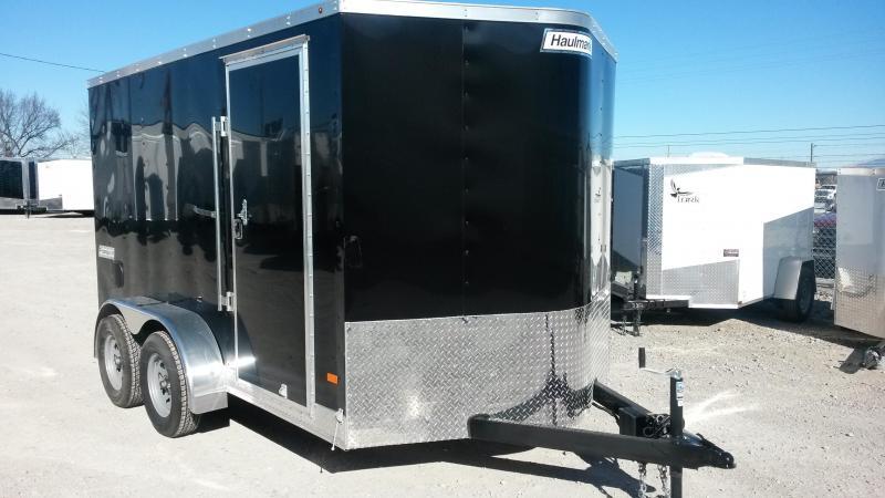 Black 7 x 12 Haulmark Enclosed Cargo Box Trailer 6'6