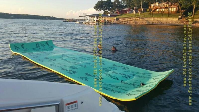 Aqua Lily Pad Floating Water Mat 6 X 18 Hitch It Tulsa