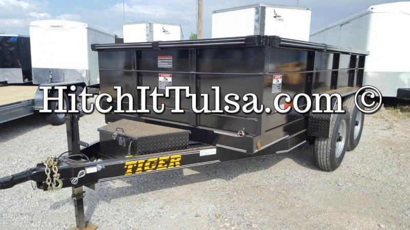77 x 12 DUMP TRAILER Bumper Pull Slide Out Ramps 7000 lb axles