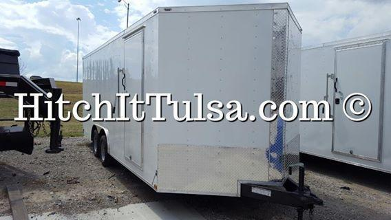 2018 Lark 8.5 x 20 Plus V-nose Enclosed Trailer w/ 5200#