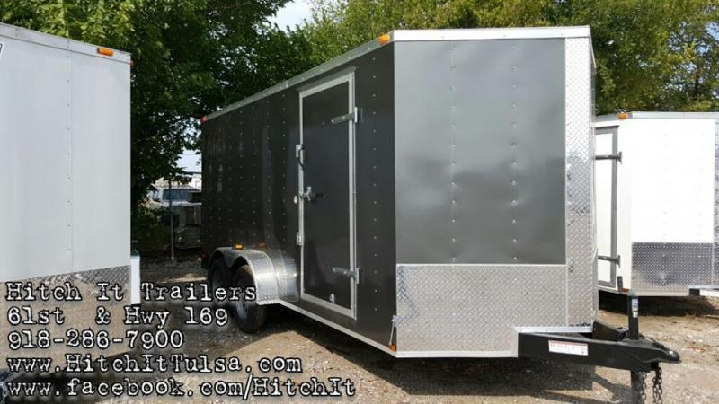 Lark 7x16 Enclosed Cargo Trailer V-Nose