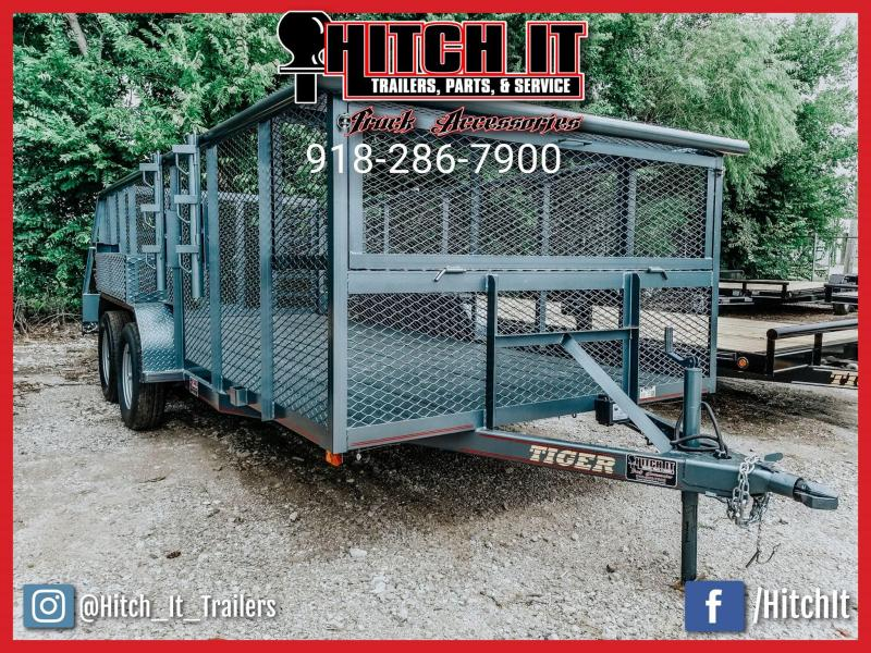 2018 Tiger 83 x 16 Landscape Trailer w/ HD TRACTOR Gate | Oklahoma ...
