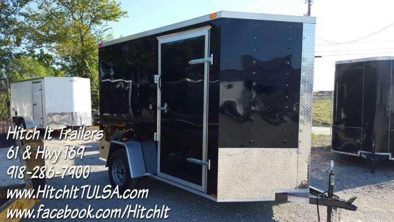 NEW Lark 6x10 V-nose BLACK Cargo Enclosed Trailer