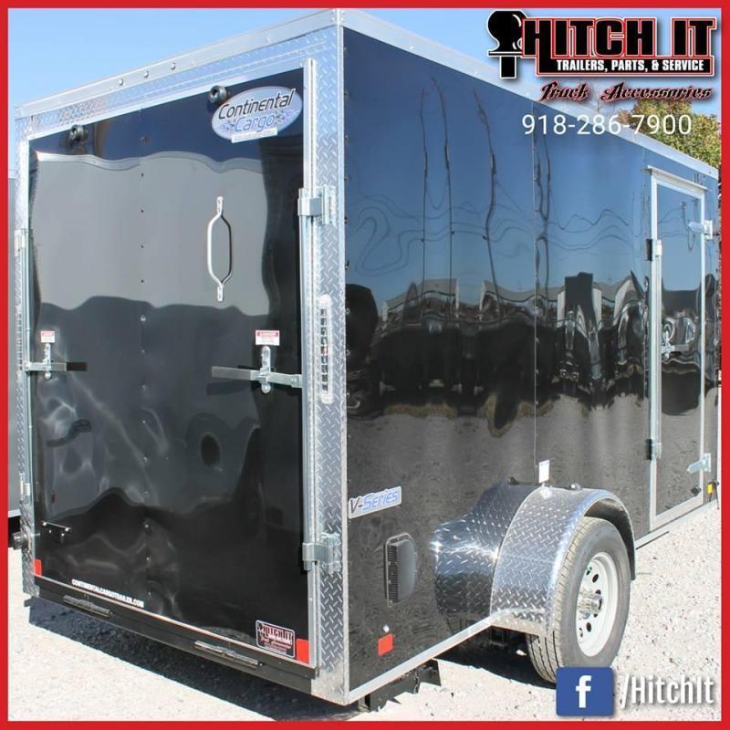 2018 Continental Cargo 6 X 12 + v-nose  Enclosed Cargo Trailer