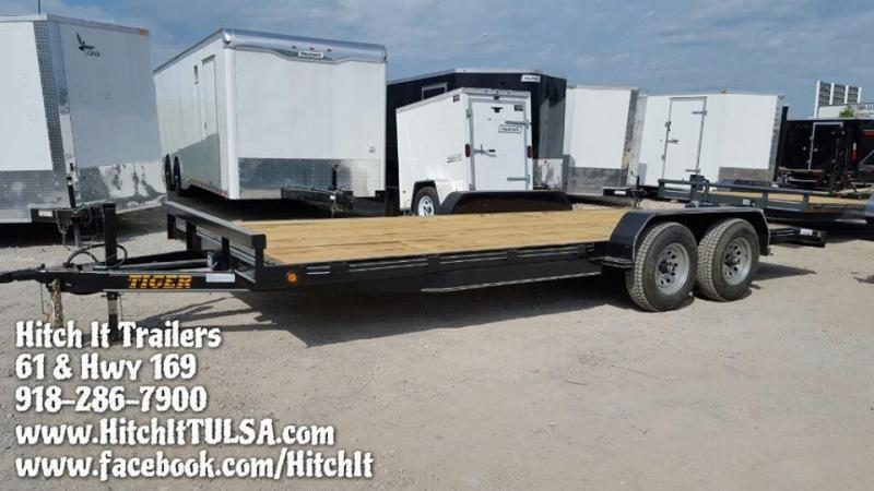 All inventory hitch it tulsa enclosed cargo car for Wood floor utility trailer