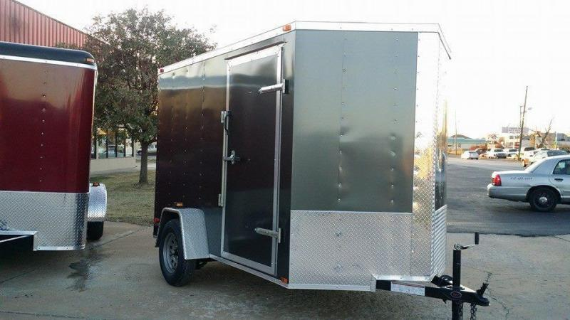 6x12 Enclosed Cargo Trailer V-Nose