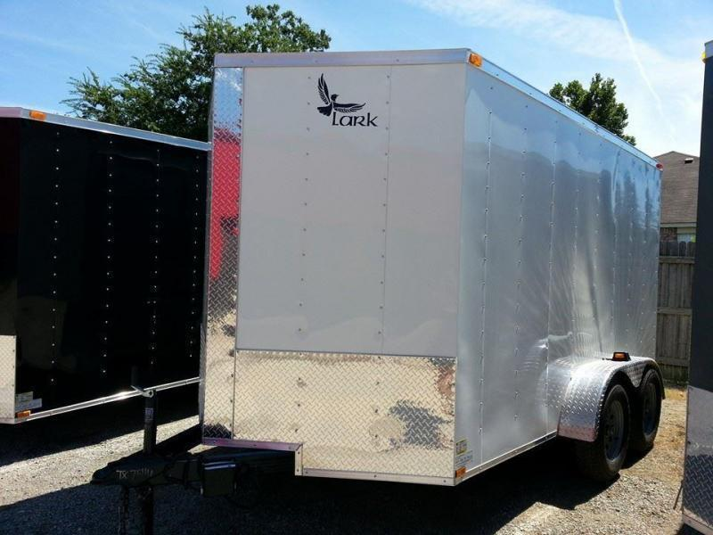2018 Lark 7x12 Enclosed Cargo Trailer V-Nose 6'6