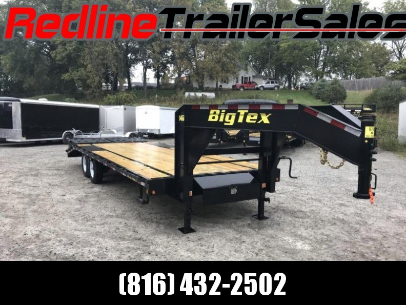 """2018 Big Tex 14GN 102"""" X 20' + 5' Flatbed Trailer * 15900K GVWR * - YEAR END CLEARANCE"""
