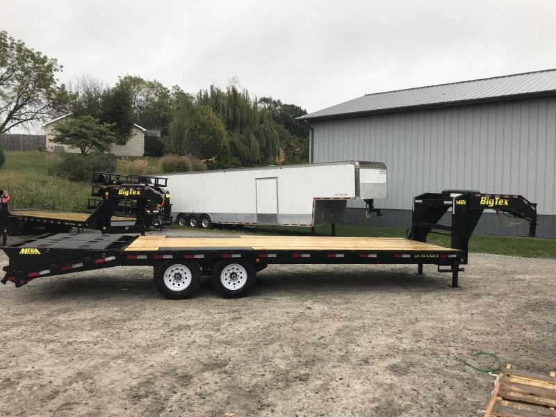 "2018 Big Tex 14GN 102"" X 20' + 5' Flatbed Trailer * 15900K GVWR *"