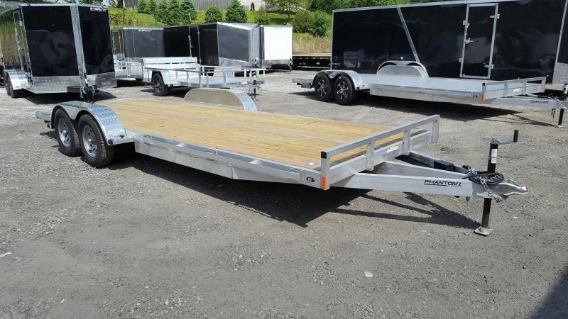 2018 Stealth Phantom 7 x 20 Aluminum Flatbed trailer / Car hauler