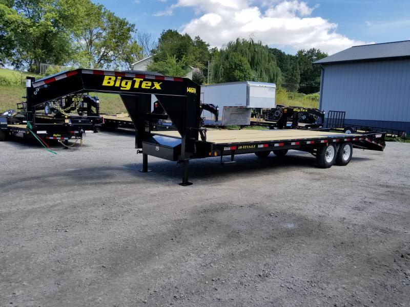 "2018 Big Tex 14GN 102"" X 20' + 5' Flatbed Trailer * 15900K GVWR *-YEAR END CLOSEOUT SALE"