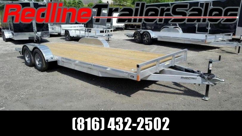 * FALL SPECIAL * 2018 Stealth Phantom 7 x 20 Aluminum Flatbed trailer / Car hauler