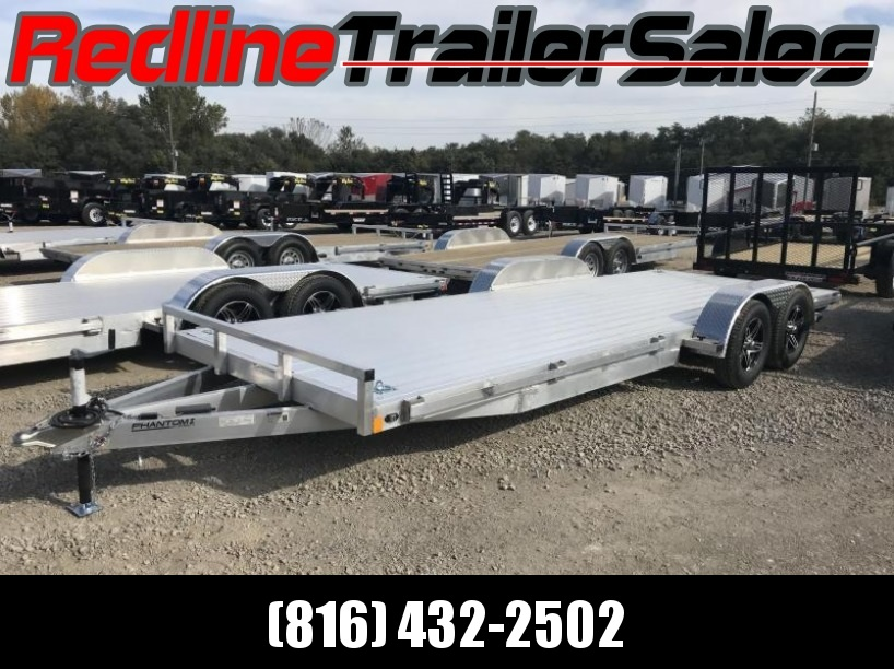 ** FALL SPECIAL ** 2018 Stealth Phantom 7 x 20 ALL ALUMINUM Flatbed Trailer * Torsion Axles *