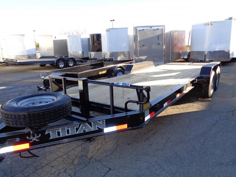 2018 Titan Trailers 183 Titan Low Glide I Beam Trailer Equipment Trailer