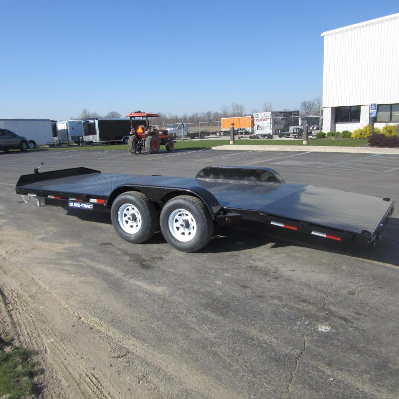 2017 Sure Trac 7 X 18 Steel Deck Car Hauler 7k I 69 Trailer