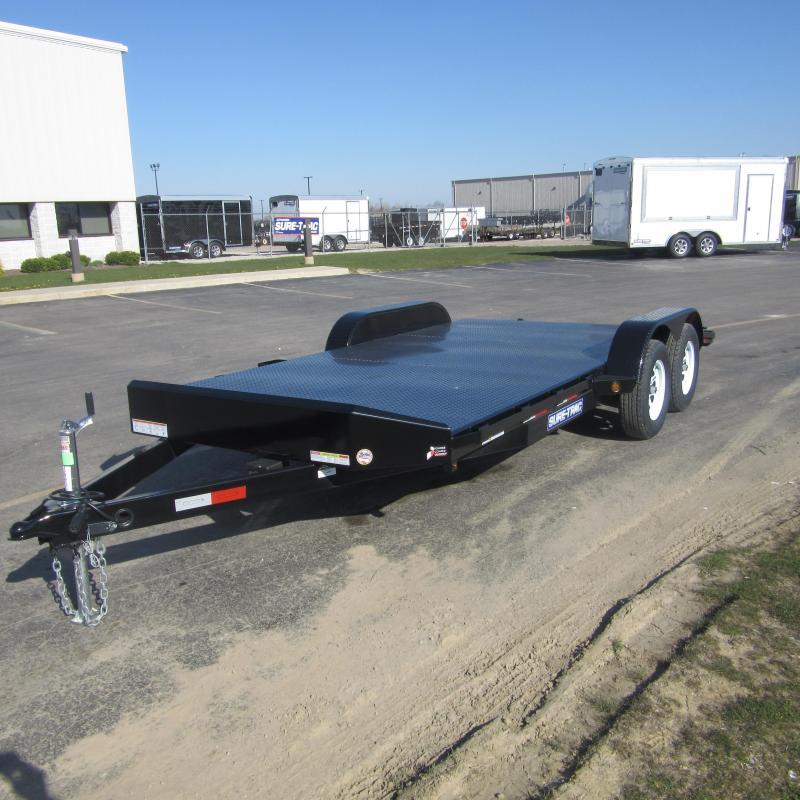 2017 Sure Trac 7 X 20 Steel Deck Car Hauler 10k I 69 Trailer