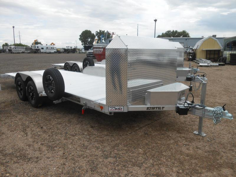 2020 Aluma 8218ANV-TILT Aluminum Tilt Deck Car / Racing Trailer - Anniversary Edition