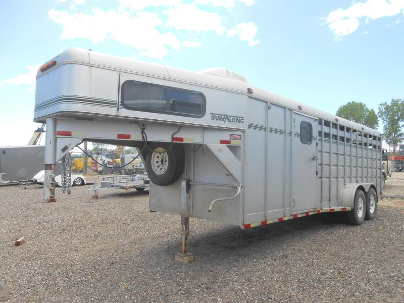 1997 Travalong Gooseneck 4 Horse Slant Trailer