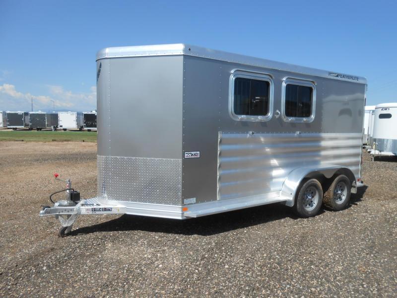 2018 Featherlite 9409 Aluminum 2 Horse Slant Trailer Horse