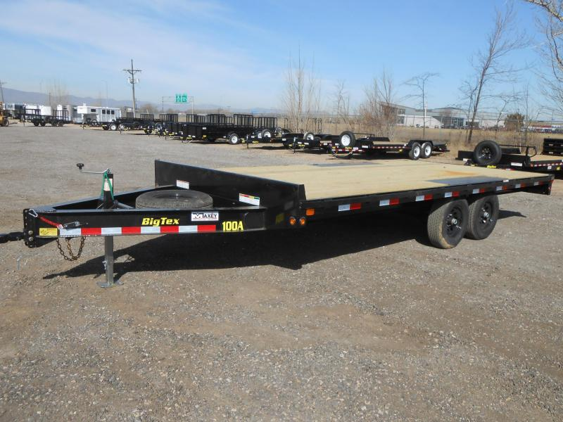 2018 Big Tex Trailers 10OA-18 Deckover Flatbed Equipment Trailer