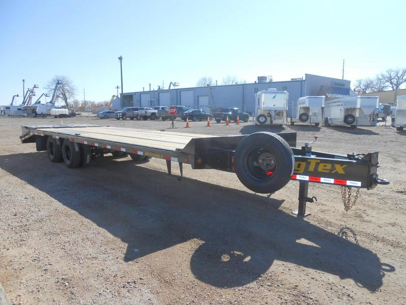 2019 Big Tex Trailers 22PH-25-5MR Pintle Flatbed Trailer w/ MEGA RAMPS