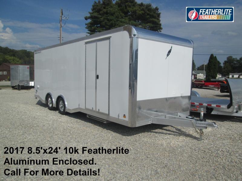 2017 8.5'x24' 10k Featherlite Aluminum Enclosed. 144648