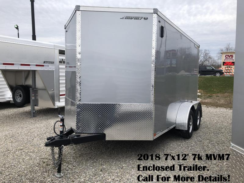 2018 7'x12' 7k MVM7 Enclosed Trailer. 1264