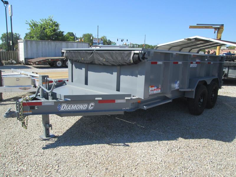 """2017 82""""x14' 14900 GVWR Diamond C Dump Trailer. 90043"""