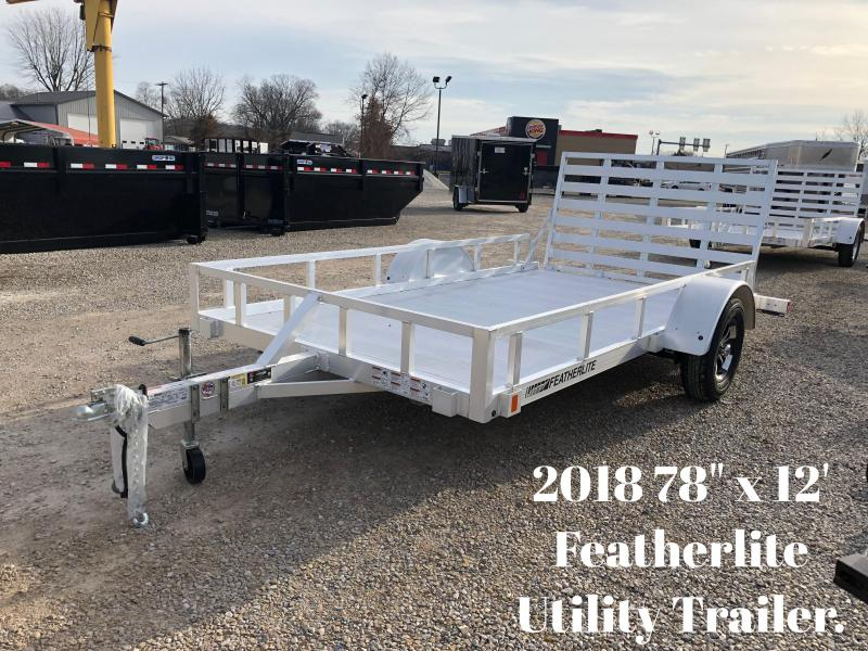 "2018 78"" x 12' Featherlite Utility Trailer. 147882"