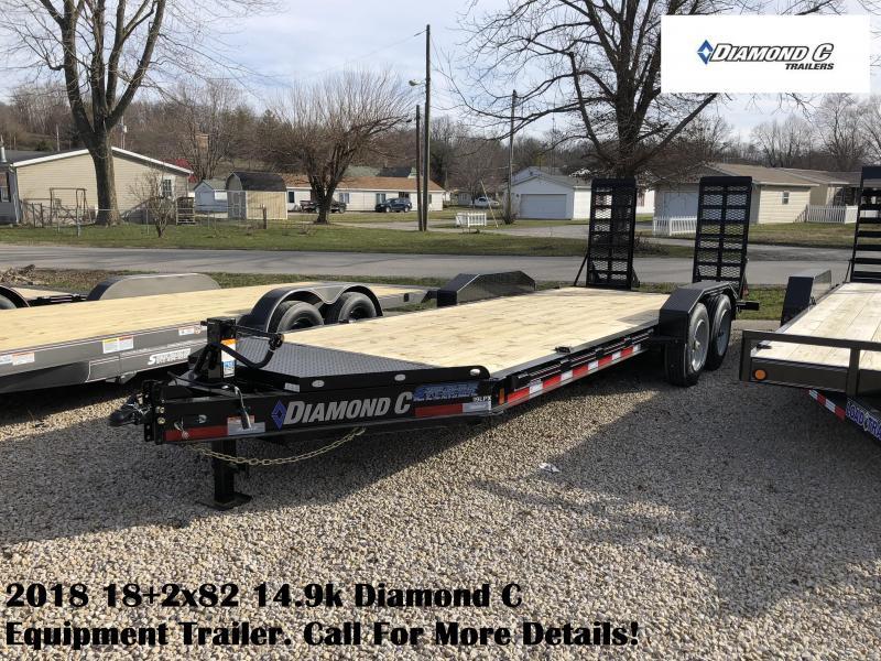 2018 18+2x82 14.9k Diamond C Equipment Trailer. 96966