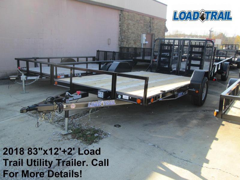 "2018 83"" x 12'+2' Load Trail 5.2K Utility Trailer. 48806"