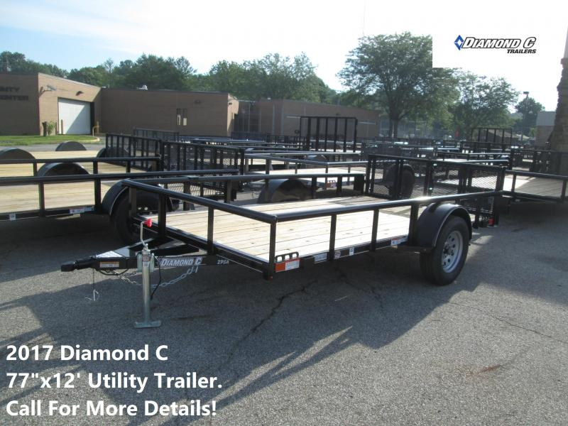 2017 77x12 Diamond C Utility Trailer. 89078
