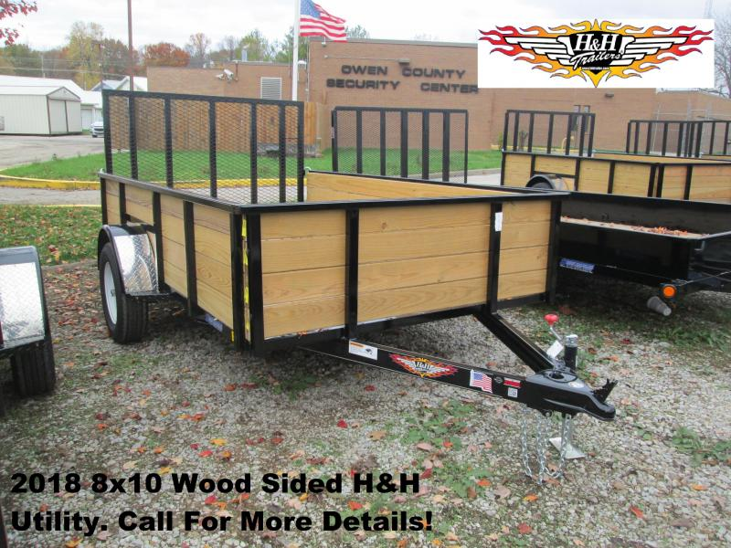 2018 8' x 10' Wood Sided H&H Utility. 76524
