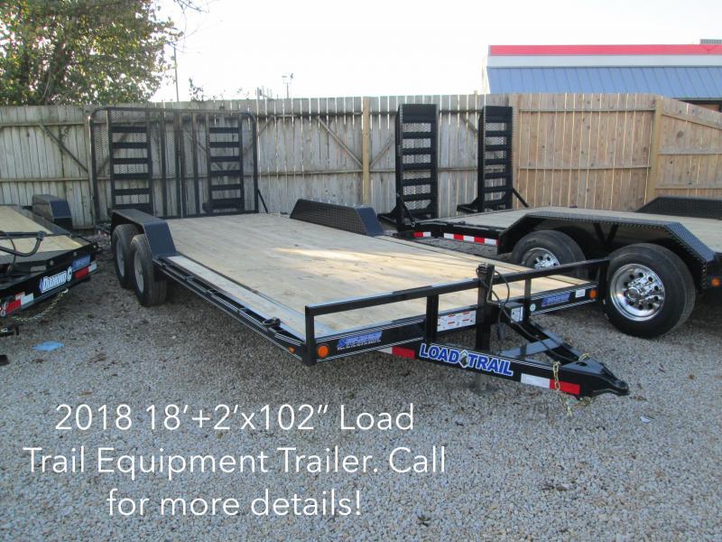 "2018 102""x18'+2' 10K Load Trail Equipment Trailer. 48289"