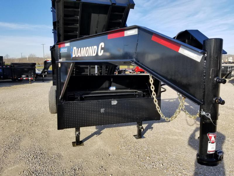 2018 Diamond C 14' 14900 lb GVWR Gooseneck dump. 98099